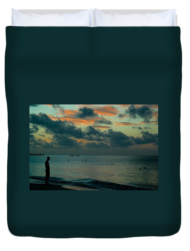Sea Duvet Cover featuring the photograph Early Morning Sea by Douglas Barnett