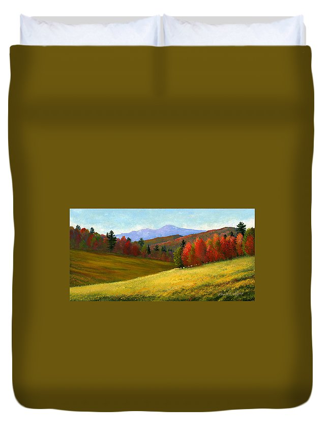 Landscape Duvet Cover featuring the painting Early October by Frank Wilson