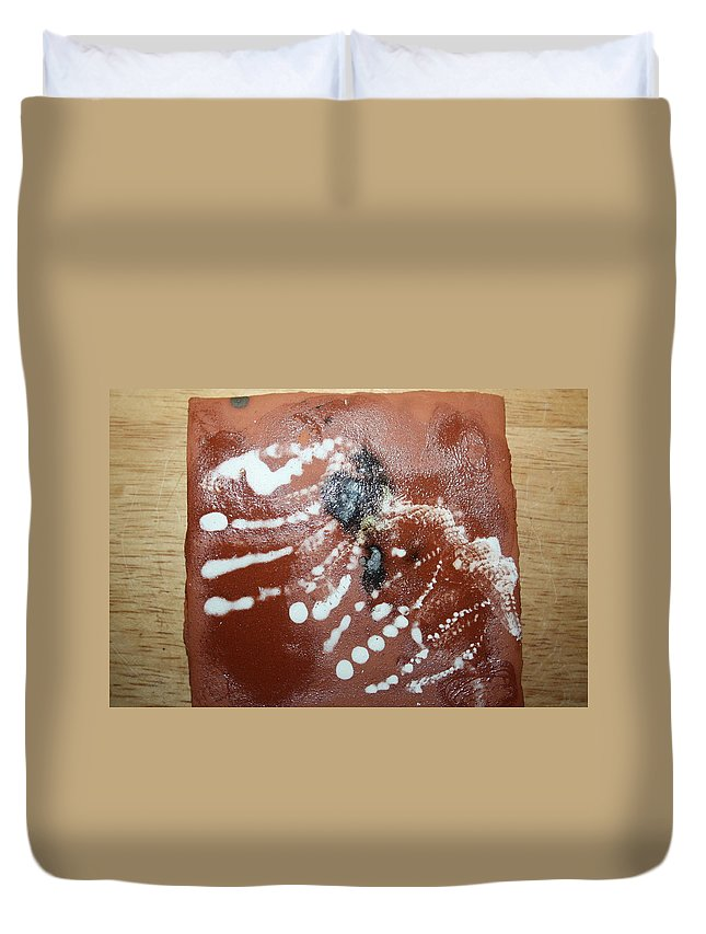 Jesus Duvet Cover featuring the ceramic art Early Riser - Tile by Gloria Ssali