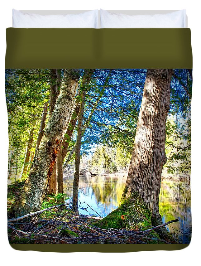Spring Duvet Cover featuring the photograph Early Spring On The River by Rick Jackson