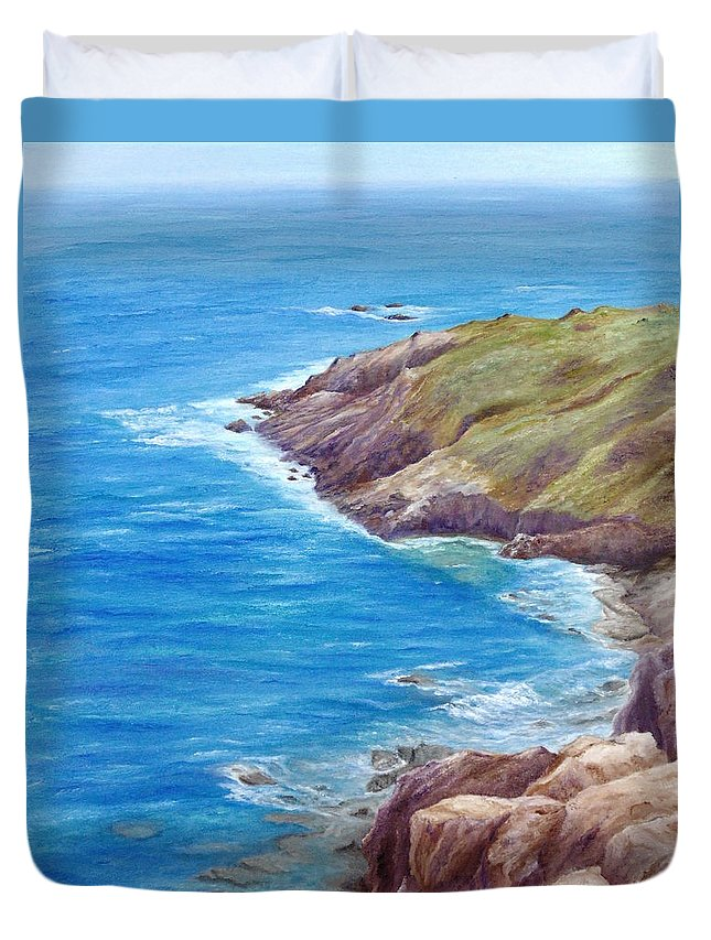 Summer Duvet Cover featuring the painting Early Summer by Angeles M Pomata