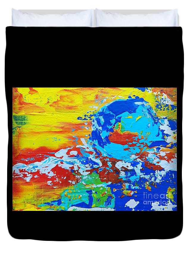 Abstract Painting; Abstract Art Duvet Cover featuring the painting Earth, As Is 2 by Jay Olermo