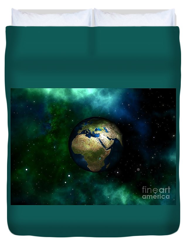Witchcraft Duvet Cover featuring the digital art Earth by Frederick Holiday