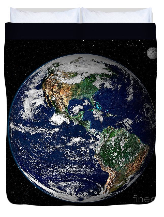Americas Duvet Cover featuring the photograph Earth From Space by NASA Goddard Space Flight Center
