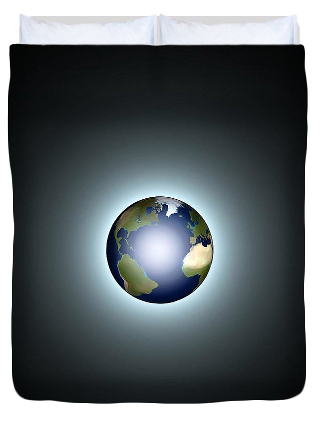 Earth Duvet Cover featuring the painting Earth by Pet Serrano