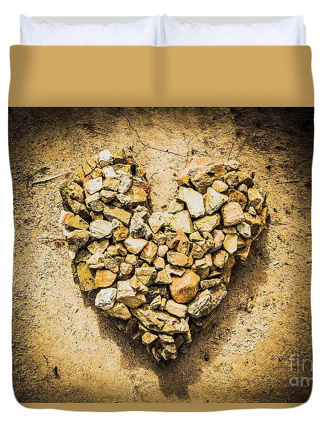 Heart Duvet Cover featuring the photograph Earthly Togetherness by Jorgo Photography - Wall Art Gallery