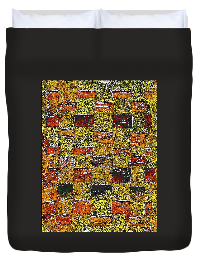 Weaving Duvet Cover featuring the painting Earths Tapestry by Wayne Potrafka