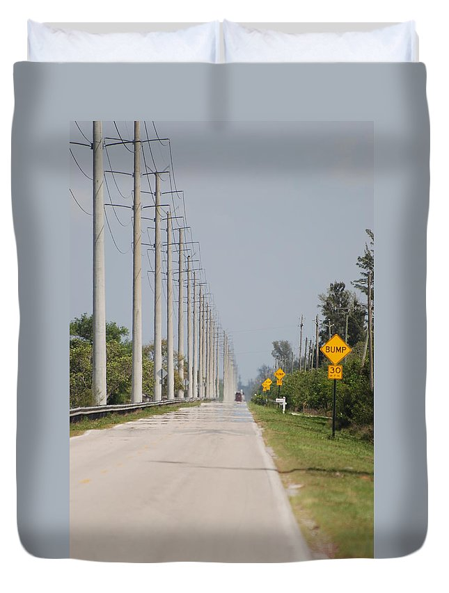 Trees Duvet Cover featuring the photograph East Bound And Down by Rob Hans