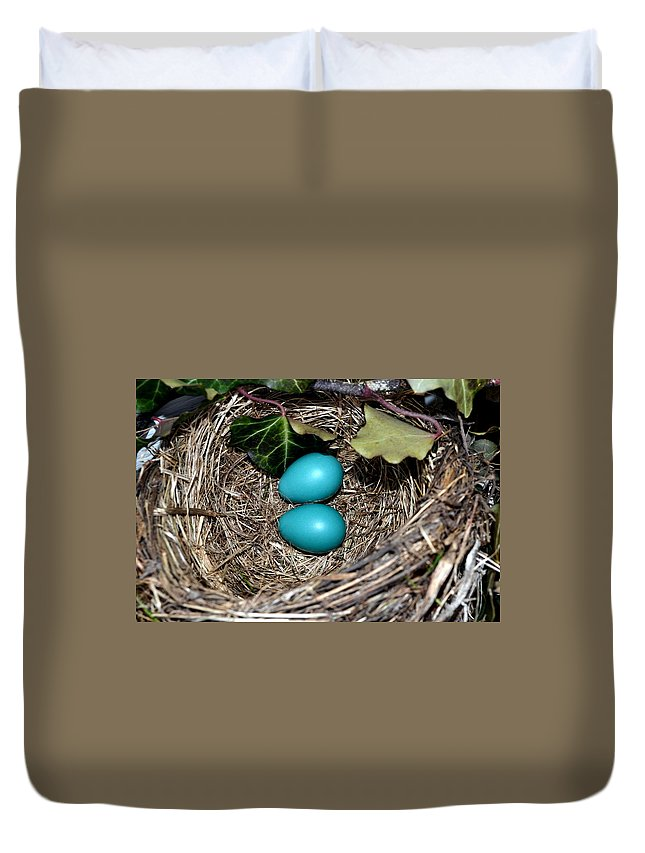 Egg Duvet Cover featuring the photograph Easter Eggs by Michelle Calkins