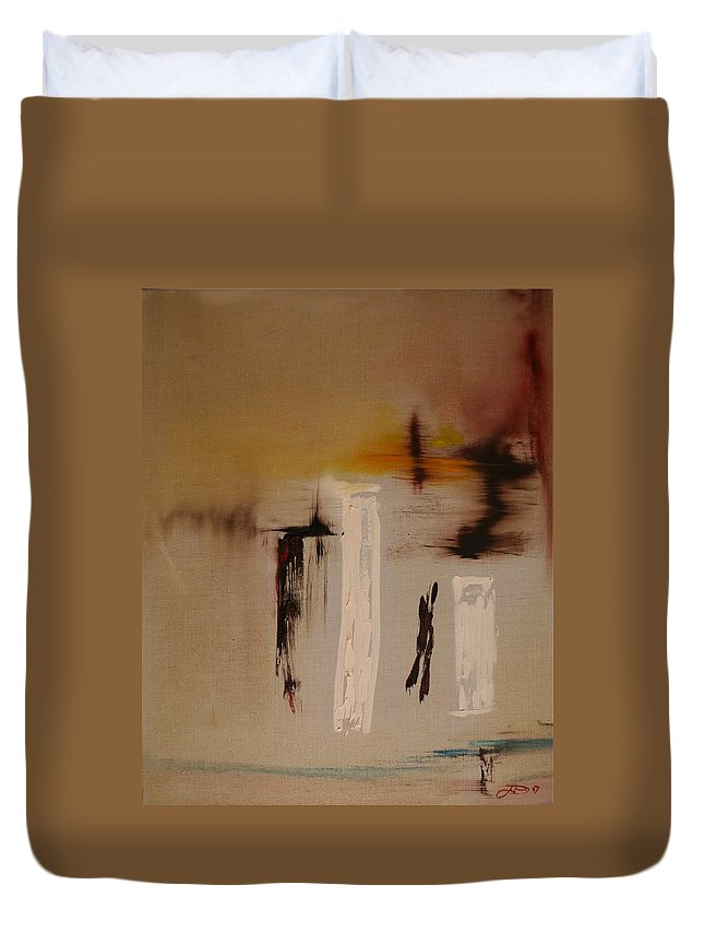 Abstract Duvet Cover featuring the painting Easy by Jack Diamond