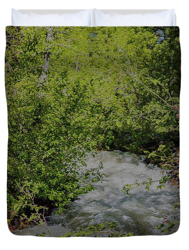 Fast Water Duvet Cover featuring the photograph Ebb And Flow by Nancy Marie Ricketts