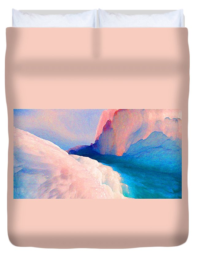Abstract Duvet Cover featuring the photograph Ebb And Flow by Steve Karol