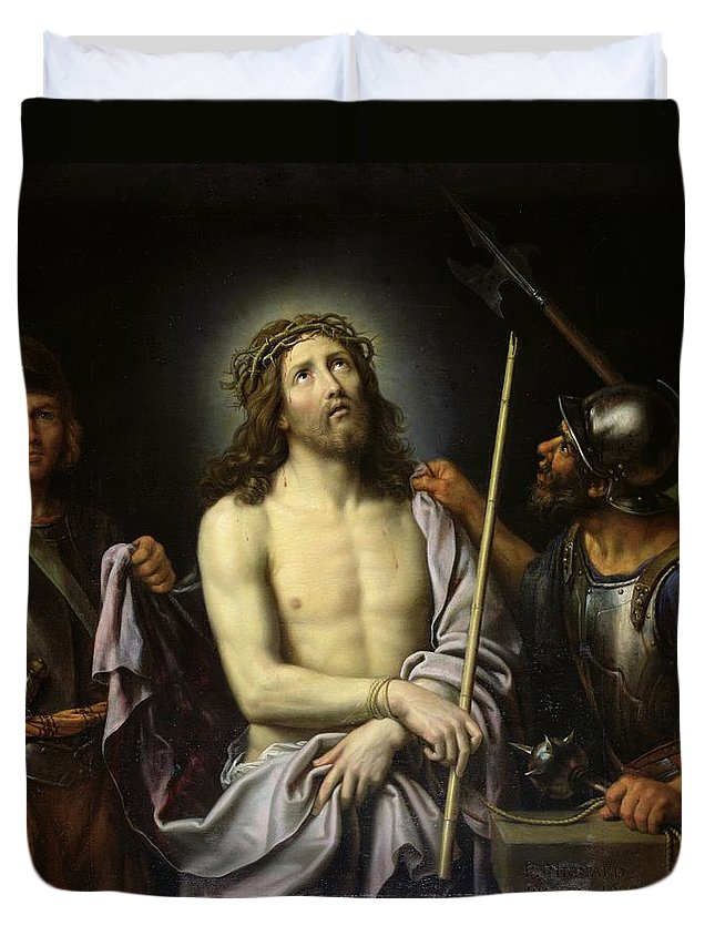 Ecce Duvet Cover featuring the painting Ecce Homo by Pierre Mignard