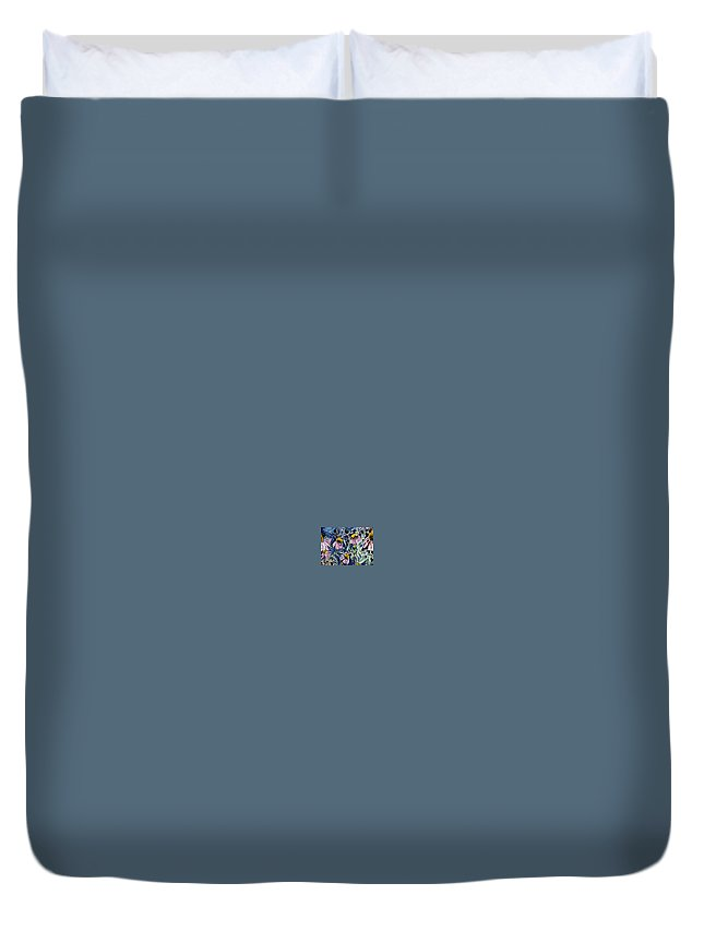 Echinacea Duvet Cover featuring the painting Echinacea Cone Flower Art by Derek Mccrea