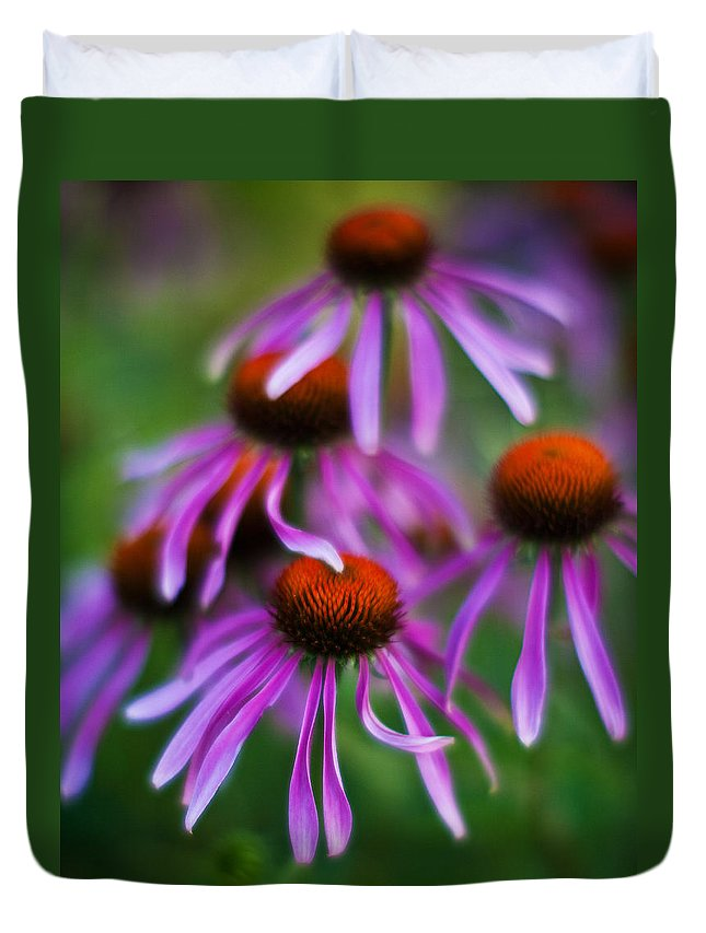 Echinacea Duvet Cover featuring the photograph Echinacea Crowd by Mike Reid