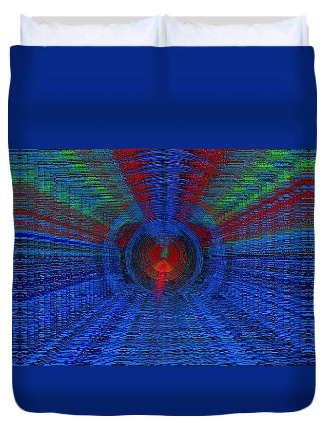 Echo Duvet Cover featuring the digital art Echo Chamber Squared by Tim Allen