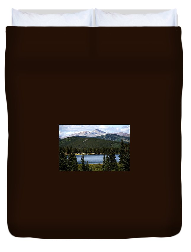 Colorado Duvet Cover featuring the photograph Echo Lake Colorado by Marilyn Hunt