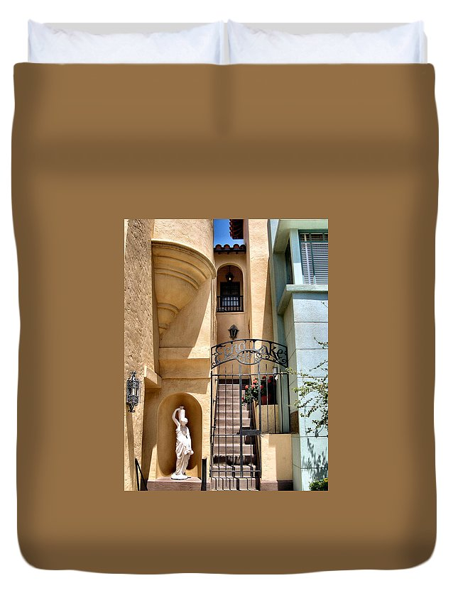 Hollywood Studios Duvet Cover featuring the photograph Echo Lake by Nora Martinez