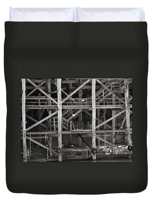 Wharf Duvet Cover featuring the photograph Echuca Wharf by Kelly Jade King