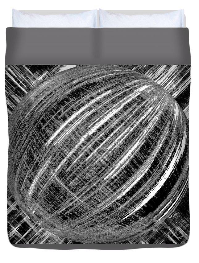 Black & White Duvet Cover featuring the digital art Economic Bubble by Will Borden