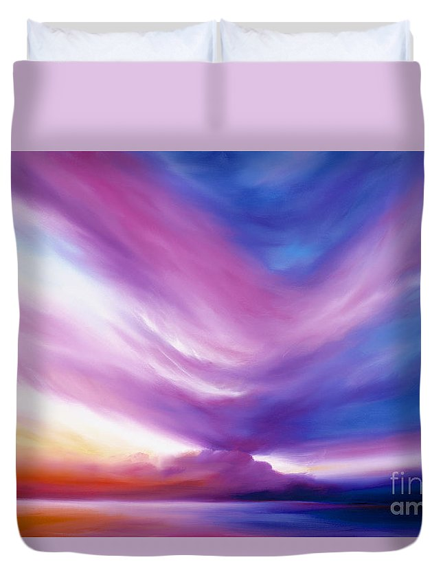 Clouds Duvet Cover featuring the painting Ecstacy by James Christopher Hill