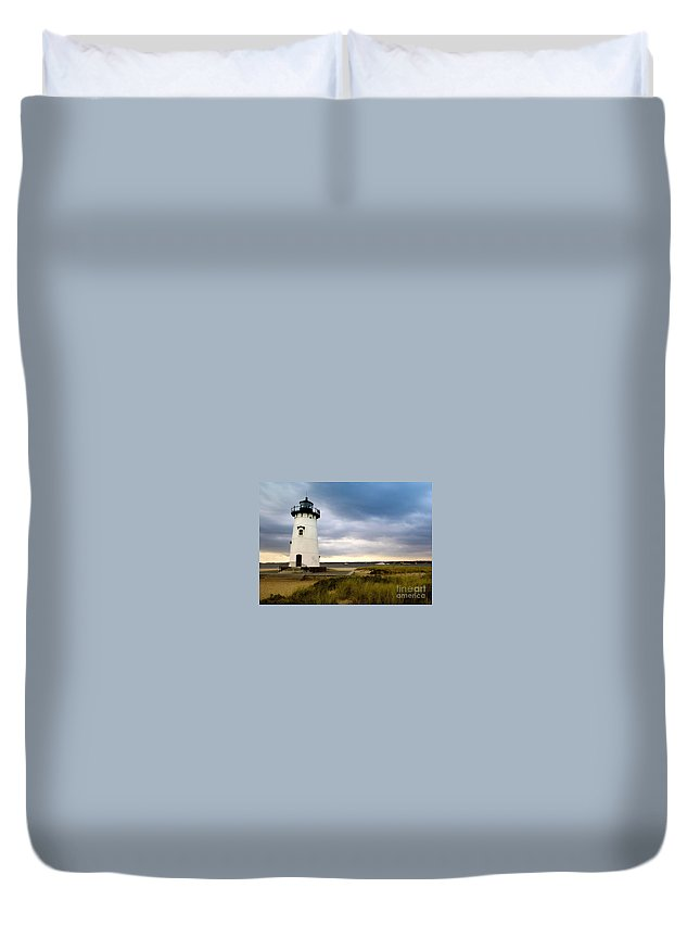 Edgartown Lighthouse Duvet Cover featuring the photograph Edgartown Lighthouse Cape Cod by Matt Suess
