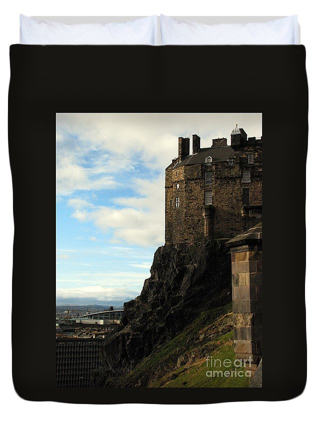 Castle Duvet Cover featuring the photograph Edinburgh Castle by Amanda Barcon