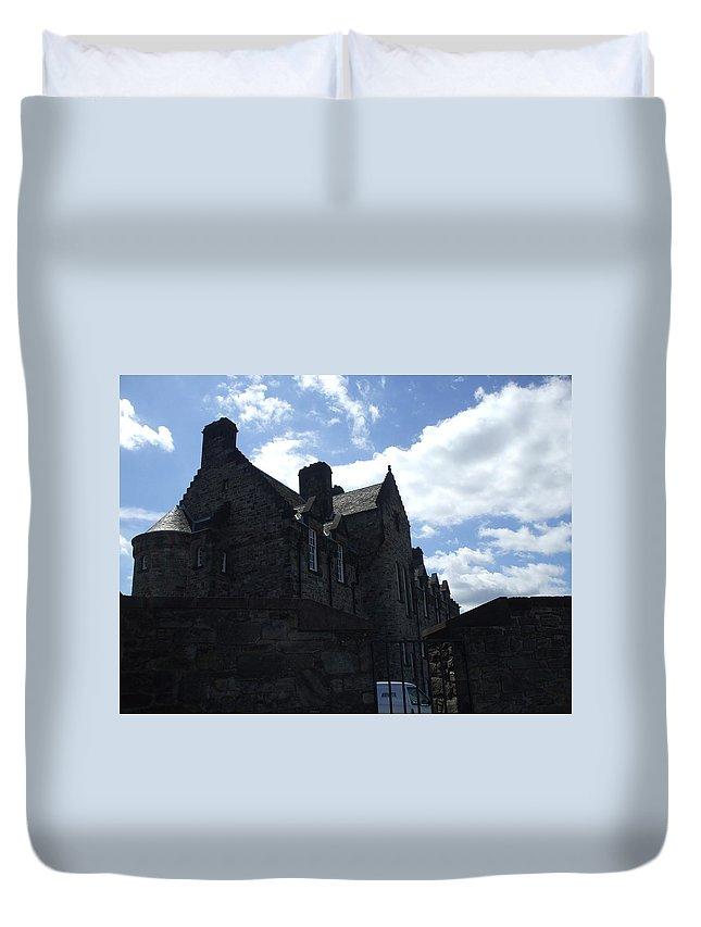 Scottish Duvet Cover featuring the photograph Edinburgh Castle by Lisa Collinsworth