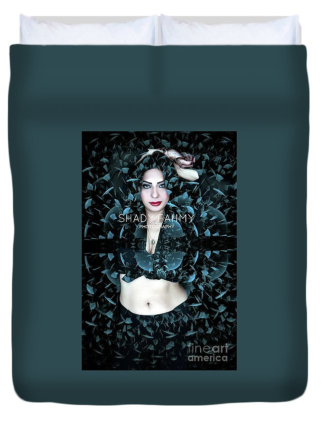 Duvet Cover featuring the photograph Editing by Shady Fahmy