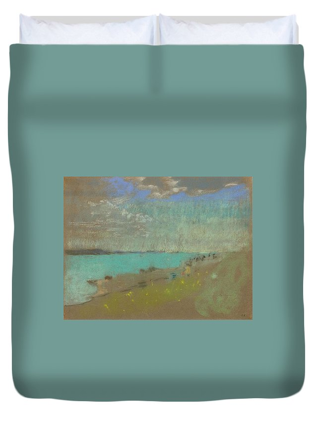 Nature Duvet Cover featuring the painting Edouard Vuillard Cuiseaux 1868-1940 La Baule The Beach. by Edouard Vuillard