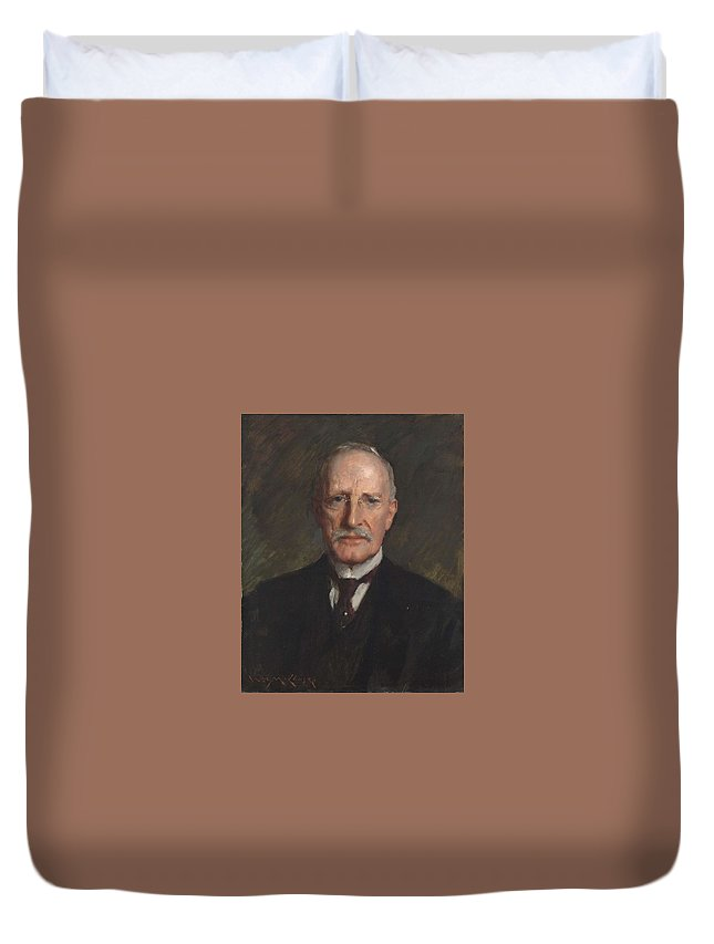 Man Duvet Cover featuring the painting Edward Guthrie Kennedy , By William Merritt Chase 1849-1916 by William Merritt Chase