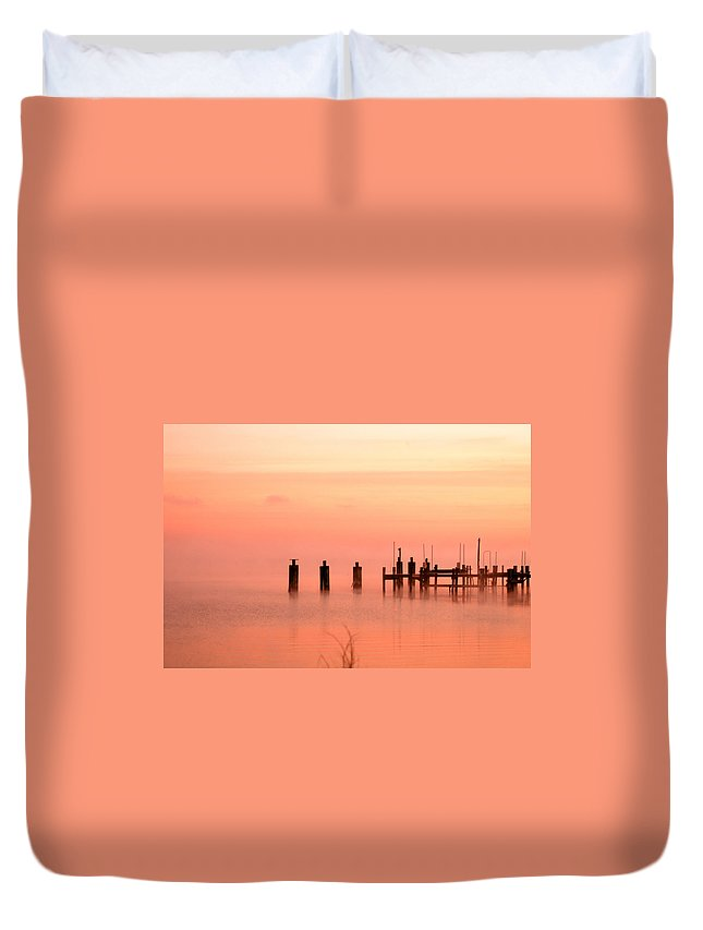 Clay Duvet Cover featuring the photograph Eery Morn by Clayton Bruster