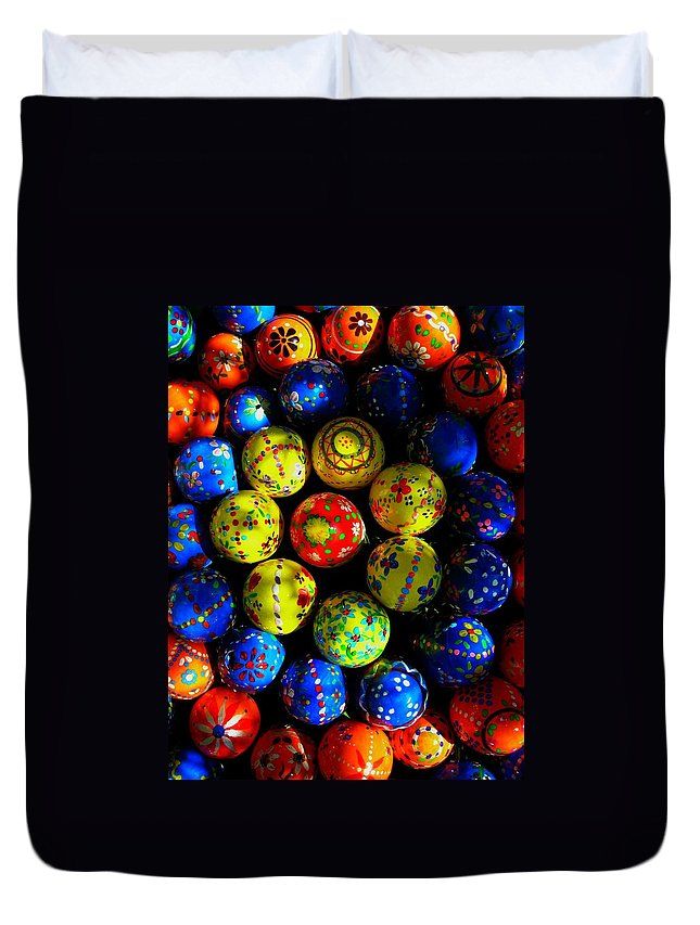 Easter Duvet Cover featuring the photograph Egg - Parade by Juergen Weiss