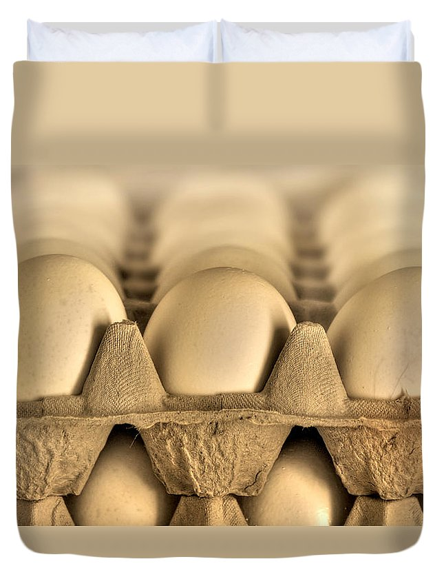Blur Duvet Cover featuring the photograph Eggs by Evelina Kremsdorf