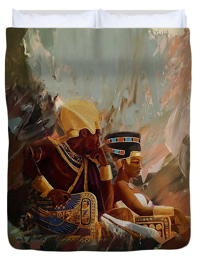 Egypt Duvet Cover featuring the painting Egyptian Culture 44b by Corporate Art Task Force