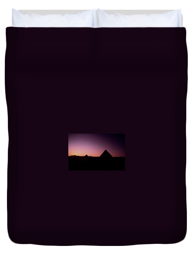 Egypt Duvet Cover featuring the photograph Egyptian Sunset by Gary Wonning