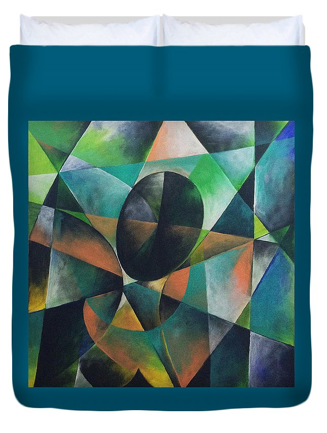 Abstract Duvet Cover featuring the painting Egyptian Woman by Ilgar Talibov