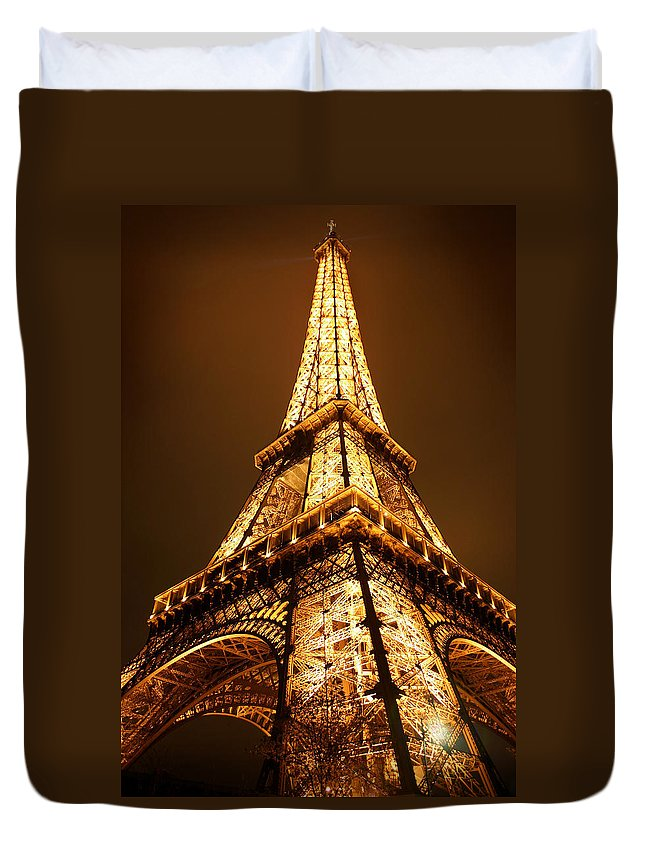 Eiffel Duvet Cover featuring the photograph Eiffel by Skip Hunt