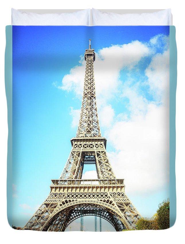 Eiffel Duvet Cover featuring the photograph Eiffel Tower Portrait by Anastasy Yarmolovich