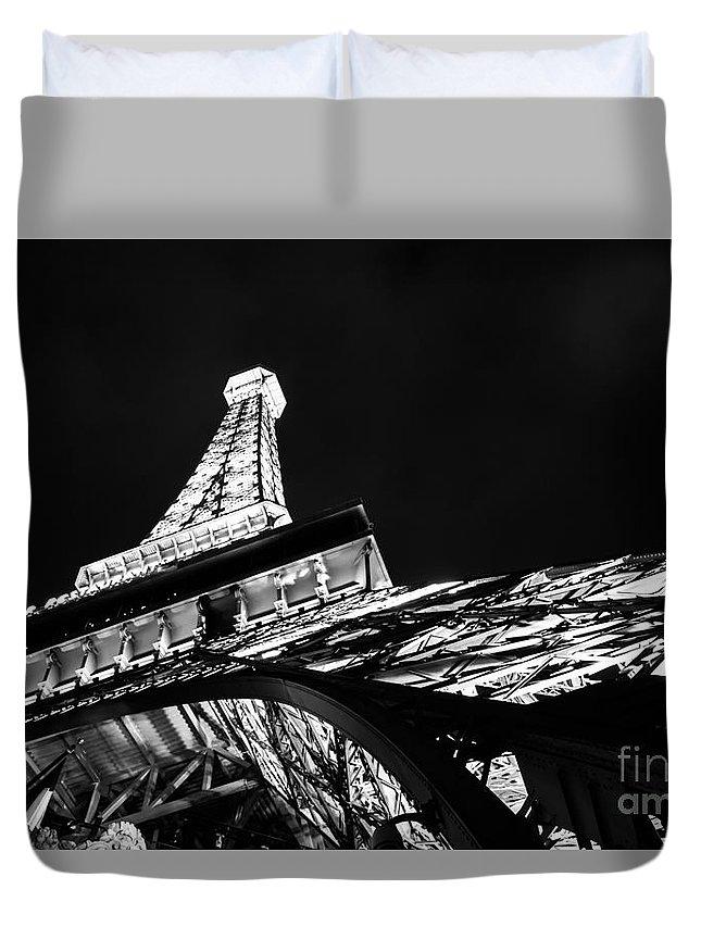 Eiffel Tower Las Vegas Duvet Cover featuring the photograph Eiffel Tower Las Vegas by Olga Photography