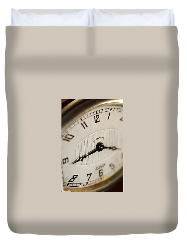 Clock Duvet Cover featuring the photograph Eight Days A Week Clock by Jill Reger