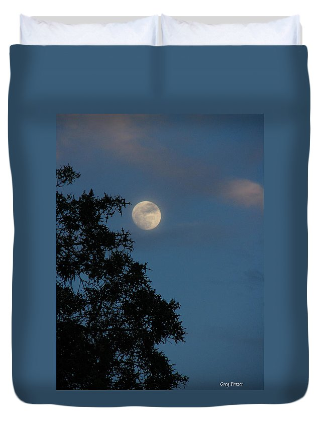 Patzer Duvet Cover featuring the photograph Eight Thirty Two Pm by Greg Patzer