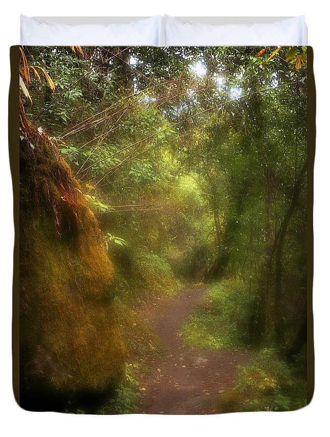 Path Duvet Cover featuring the photograph El Camino by Patrick Klauss