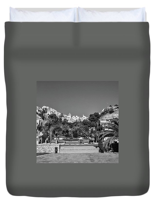 Mediterranean Duvet Cover featuring the photograph El Capistrano, Nerja by John Edwards