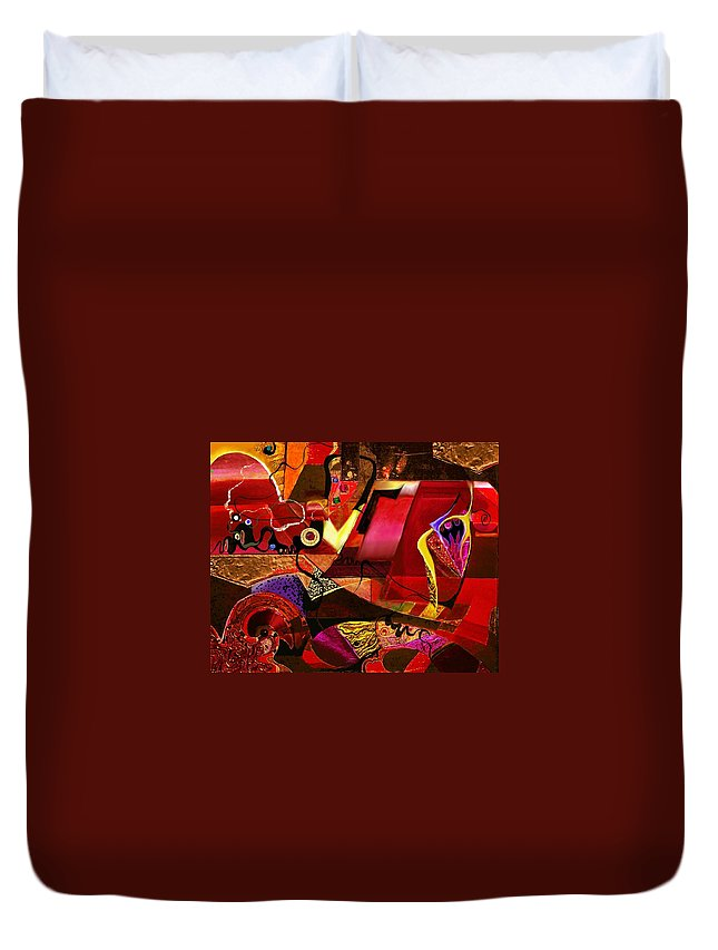 Digital Painting Duvet Cover featuring the painting El Dorado by Wolfgang Schweizer