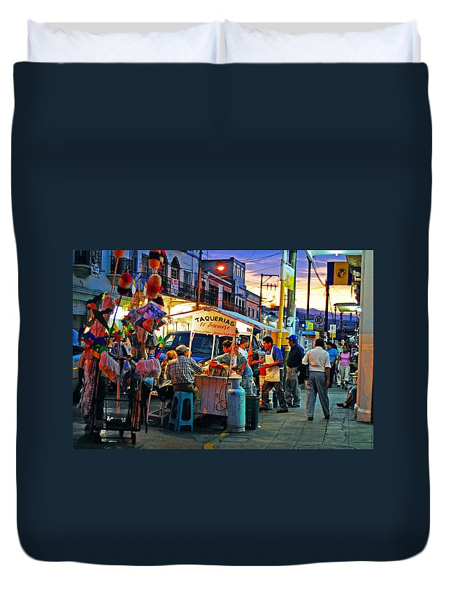 Skip Hunt Duvet Cover featuring the photograph El Flamazo by Skip Hunt