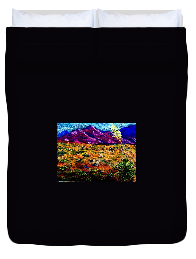 Yucca Duvet Cover featuring the painting El Paso by Melinda Etzold