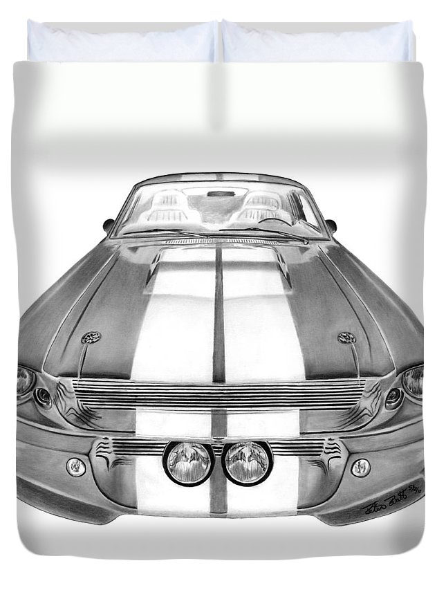 Eleanor Inverted Duvet Cover featuring the drawing Eleanor Inverted by Peter Piatt