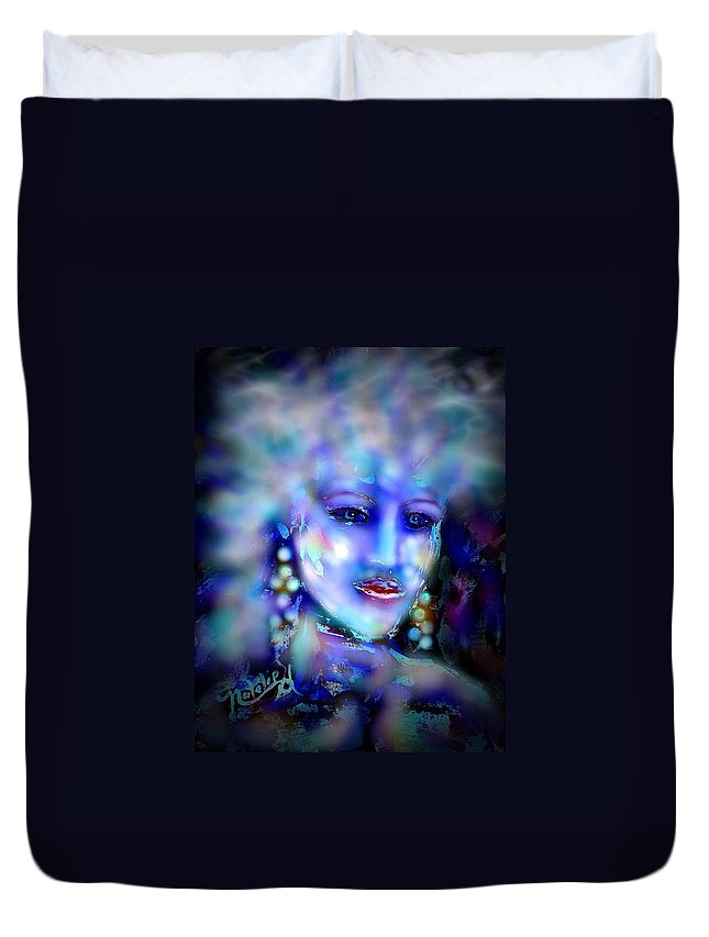 Woman Duvet Cover featuring the painting Electra by Natalie Holland