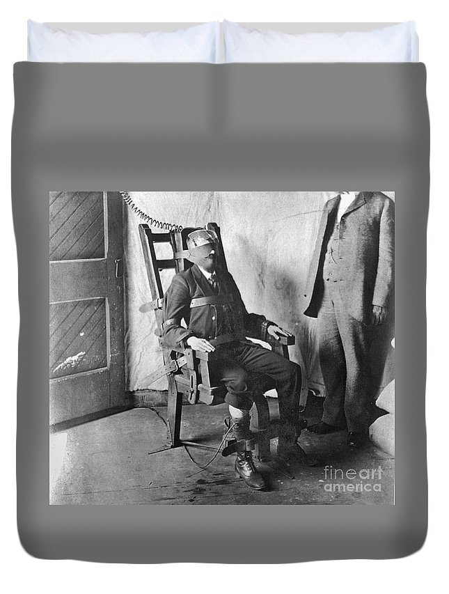 1908 Duvet Cover featuring the photograph Electric Chair, 1908 by Granger